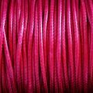 Algodón encerado brillante 1,4 mm rosa fucsia