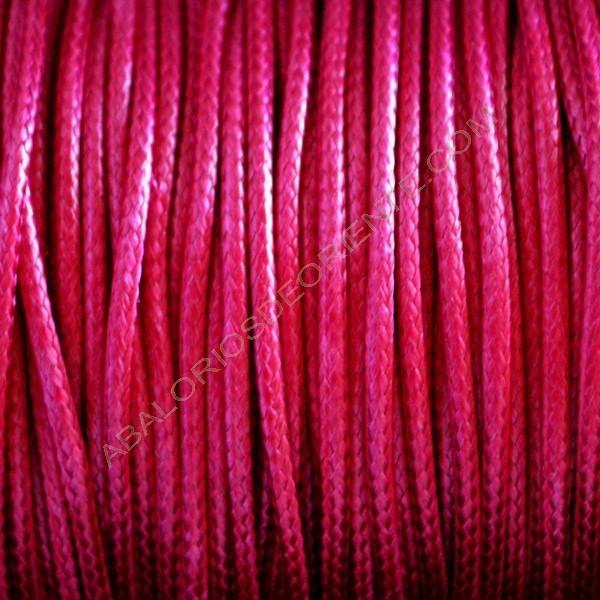 Algodón encerado brillante 1,5 mm rosa fucsia