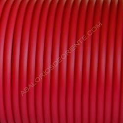 Cordón de caucho rojo