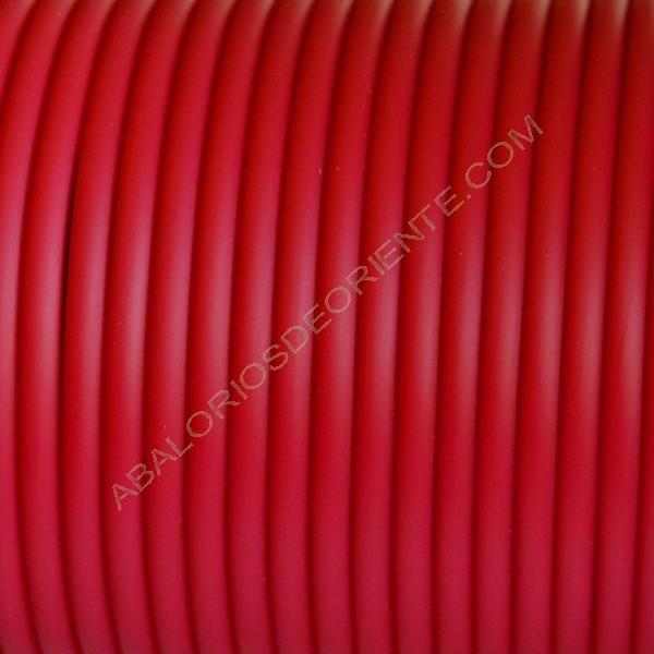 Cordón de caucho hueco rojo en metros