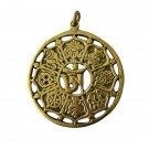 Colgante Astamangal Tibetano de latón color dorado