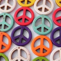 Cuenta símbolo de la paz 20 mm