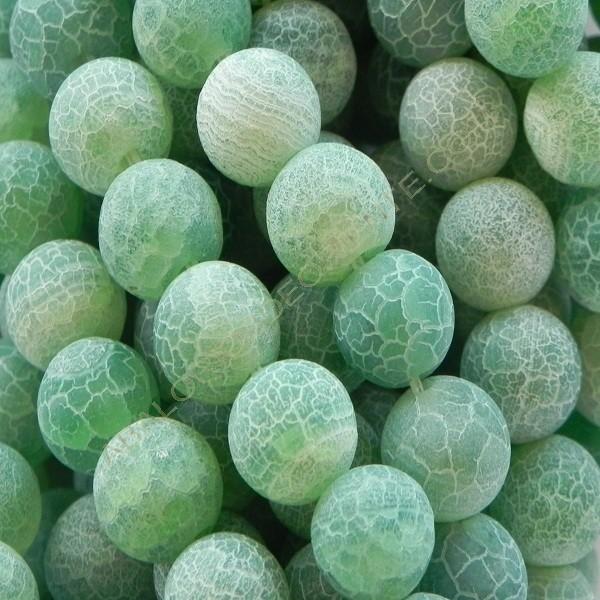 Ágata natural Effloresce 8 mm verde