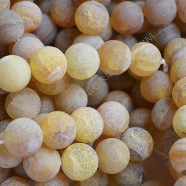 Ágata natural Effloresce 14 mm amarilla