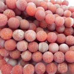 Ágata natural Effloresce 14 mm roja