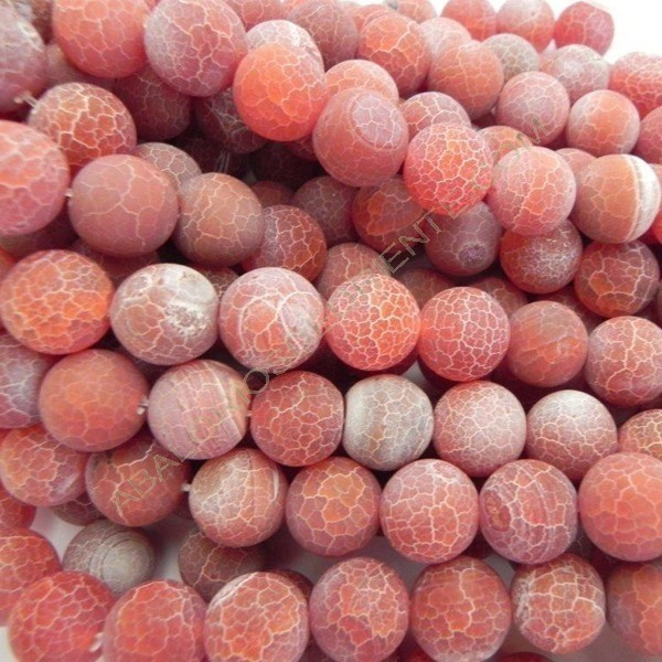 Ágata roja natural Effloresce redonda de 14 mm