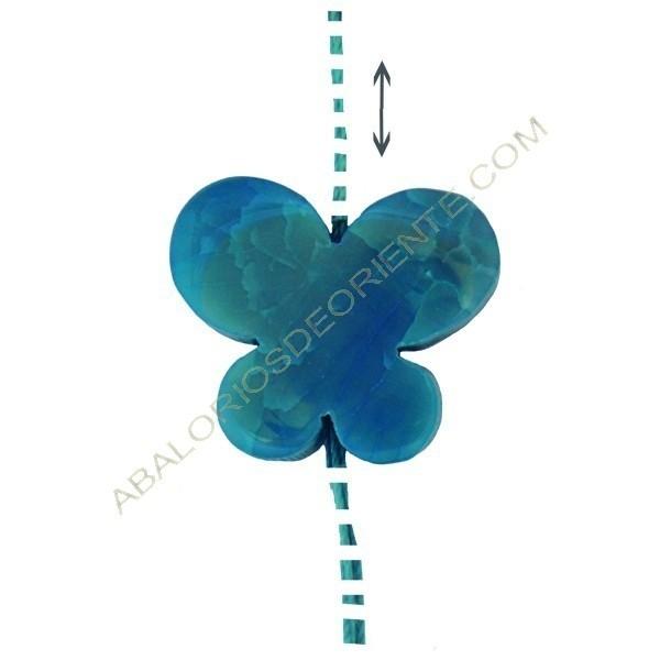 Colgante de Ágata natural azul verdoso mariposa 2