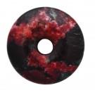 Donut Ágata negro y rojo