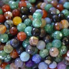 Ágata natural facetada 10 mm multicolor 2