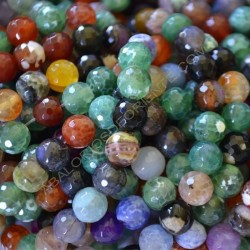 Ágata natural facetada 10 mm multicolor