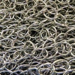 Cadena de hierro de 12 x 17 x 2 mm