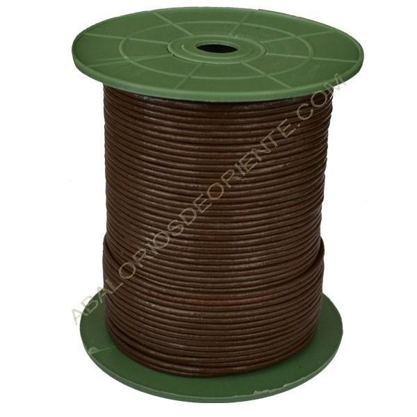 Cuero marrón Chino 2 mm calidad económica (Carrete)