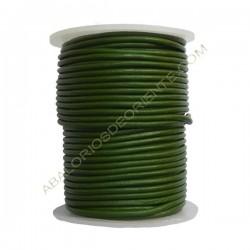 Cuero 2 mm Verde Loro 14