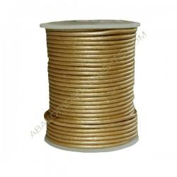 Cuero 2 mm Oro metalizado 221