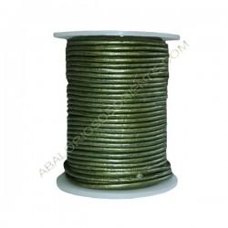 Cuero 2 mm Verde Oliva metalizado 248