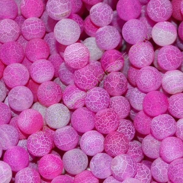 Ágata rosa natural Effloresce redonda de 10 mm