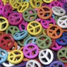 Cuenta símbolo de la paz 25 mm