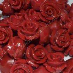 Flor resina roja