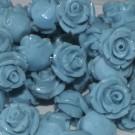 Flor resina turquesa 12 x 10 mm
