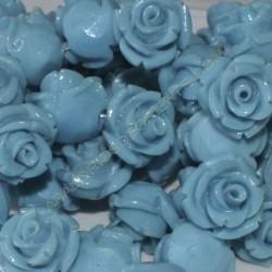 Flor resina turquesa