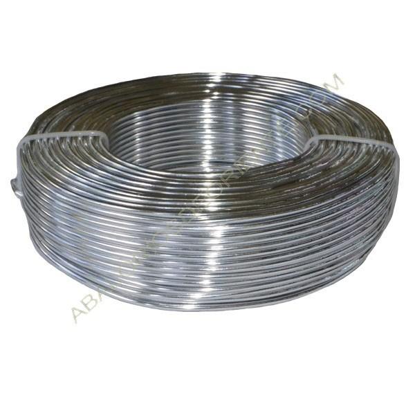 Hilo de alumino de color plateado 2 mm