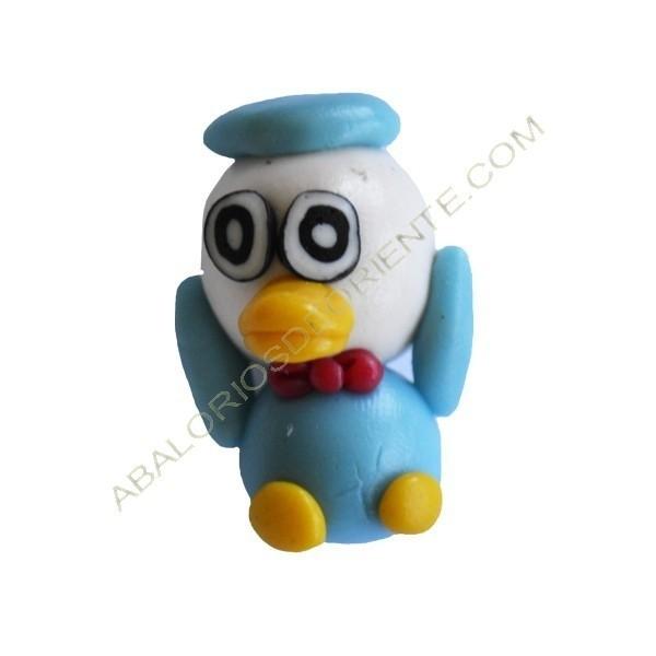 Figuritas de FIMO Pato azul