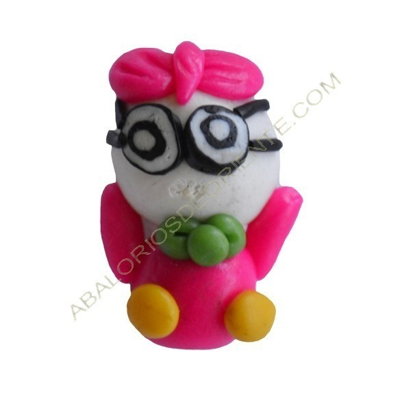 Figuritas de FIMO Pato rosa