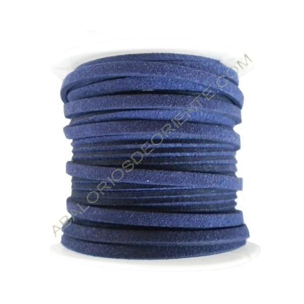 Cordón de ante azul marino 3 x 1 mm