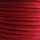 Cordón de antelina rojo 3 x 1.5 mm