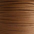 Cordón de antelina café 3 x 1.5 mm