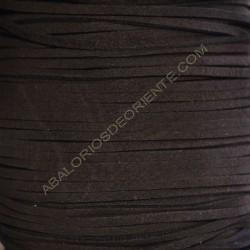 Cordón de antelina marrón 3 x 1.5 mm