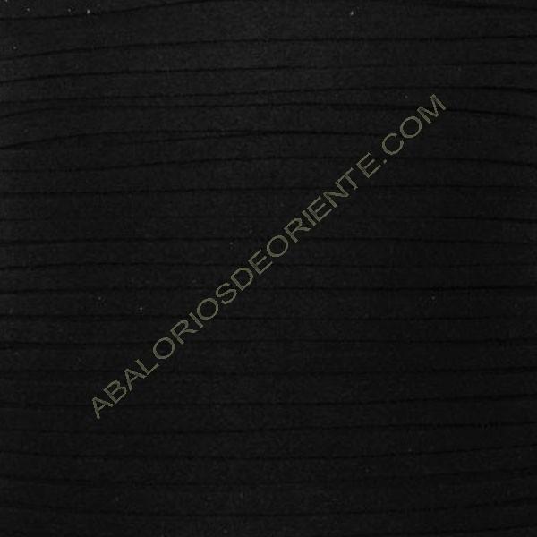 Cordón de antelina negro 3 x 1.5 mm