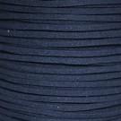 Cordón de antelina azul marino 3 x 1.5 mm