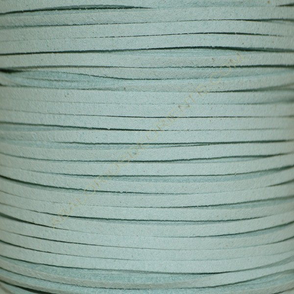 Cordón de antelina azul aguamarina 3 x 1.5 mm