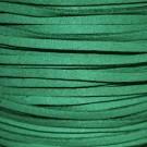 Cordón de antelina verde esmeralda 3 x 1.5 mm