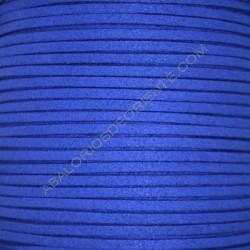 Cordón de antelina azul electrico 3 x 1.5 mm