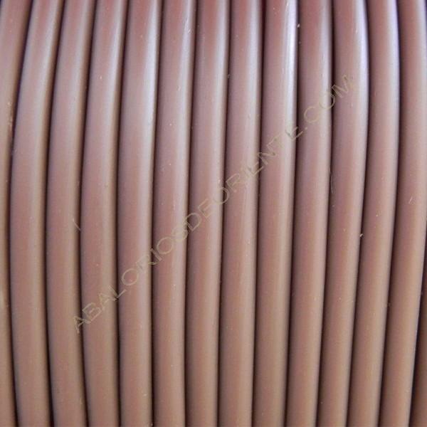 Cordón de caucho hueco marrón