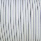 Cordón de caucho hueco blanco