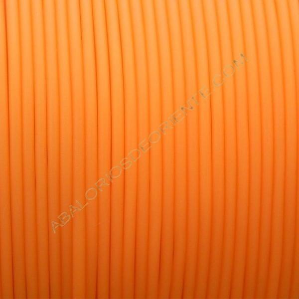Cordón de caucho hueco naranja