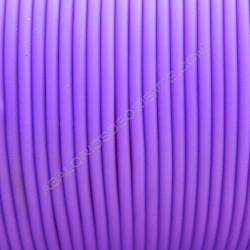 Cordón de caucho hueco morado
