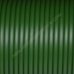 Cordón de caucho hueco verde botella