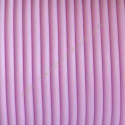Cordón de caucho hueco rosa bebé