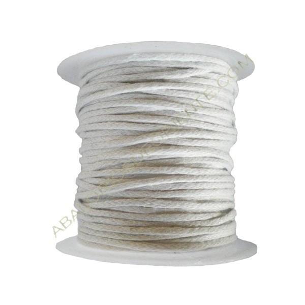 Algodón encerado 1,5 mm blanco