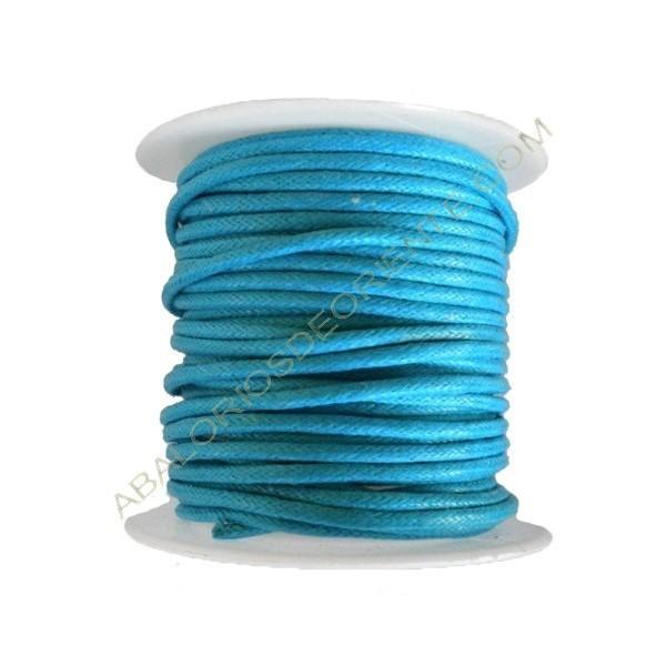 Algodón encerado 1,5 mm azul turquesa