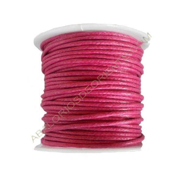 Algodón encerado 1,5 mm rosa fuerte