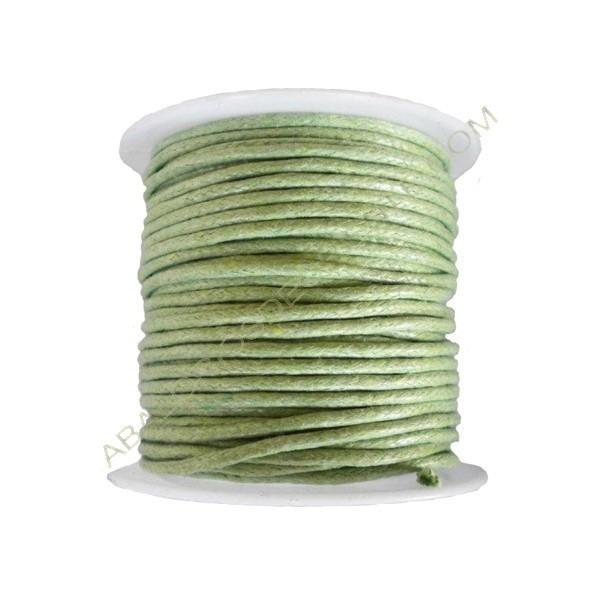 Algodón encerado 1,5 mm verde claro