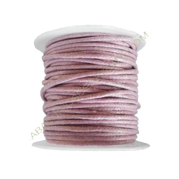 Algodón encerado 1,5 mm lila