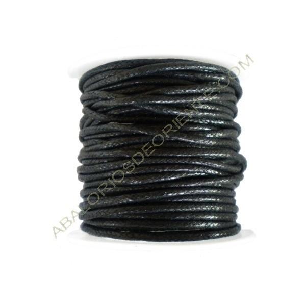 Algodón encerado 2 mm negro