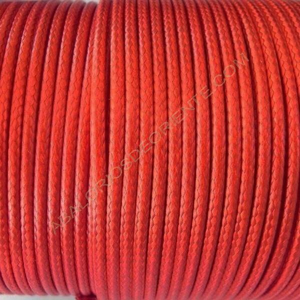 Algodón encerado brillante 2 mm rojo