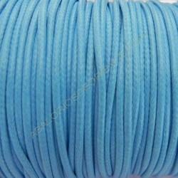 Algodón encerado brillante 2 mm azul turquesa
